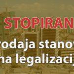 Stopirana prodaja stanova na legalizaciji
